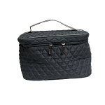 Quilted Cosmetic Train case - Large